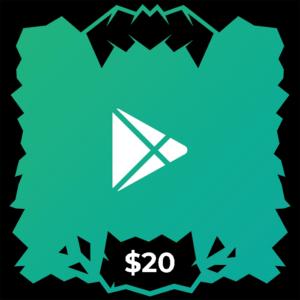 گیفت کارت گوگل پلی ۲۰ دلاری