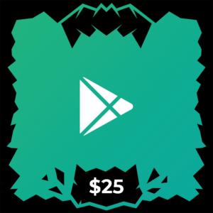گیفت کارت گوگل پلی ۲۵ دلاری