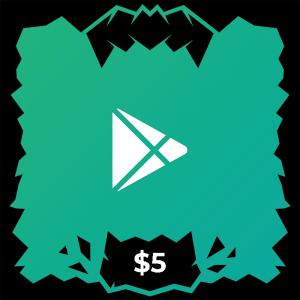 گیفت کارت گوگل پلی ۵ دلاری