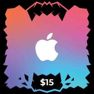 گیفت کارت آیتونز و اپل موزیک ۱۵ دلاری